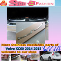 High Quality For Volvo XC60 2014 2015 Car styling cover Stainless Steel Inner built Rear Bumper Protector trim plate pedal 1pcs