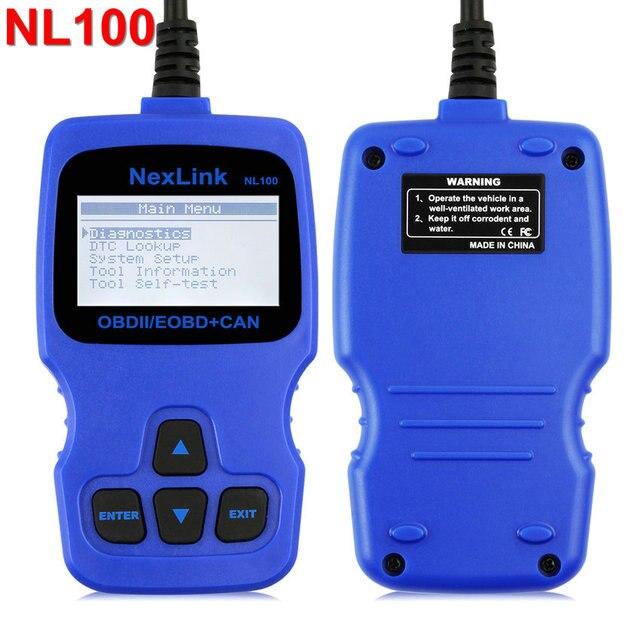OBD2 Auto Diagnostic Scanner Nexlink NL100 Gasoline Diesel Engine Code Reader Analyzer with O2 Sensor Test with Spanish Dutch
