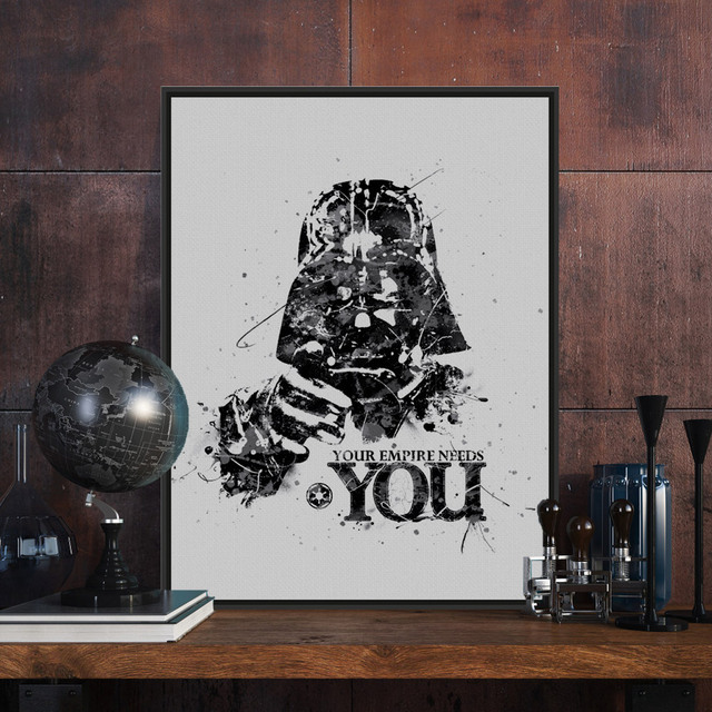 Darth Vader Watercolor Star Wars A4 Vintage Movie Poster Print