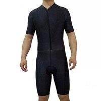 2017 SGCIKER all balck pro team aero Cycling skinsuit Short sleeve summer bodysuit bike clothing MTB Ropa Ciclismo speedsuit