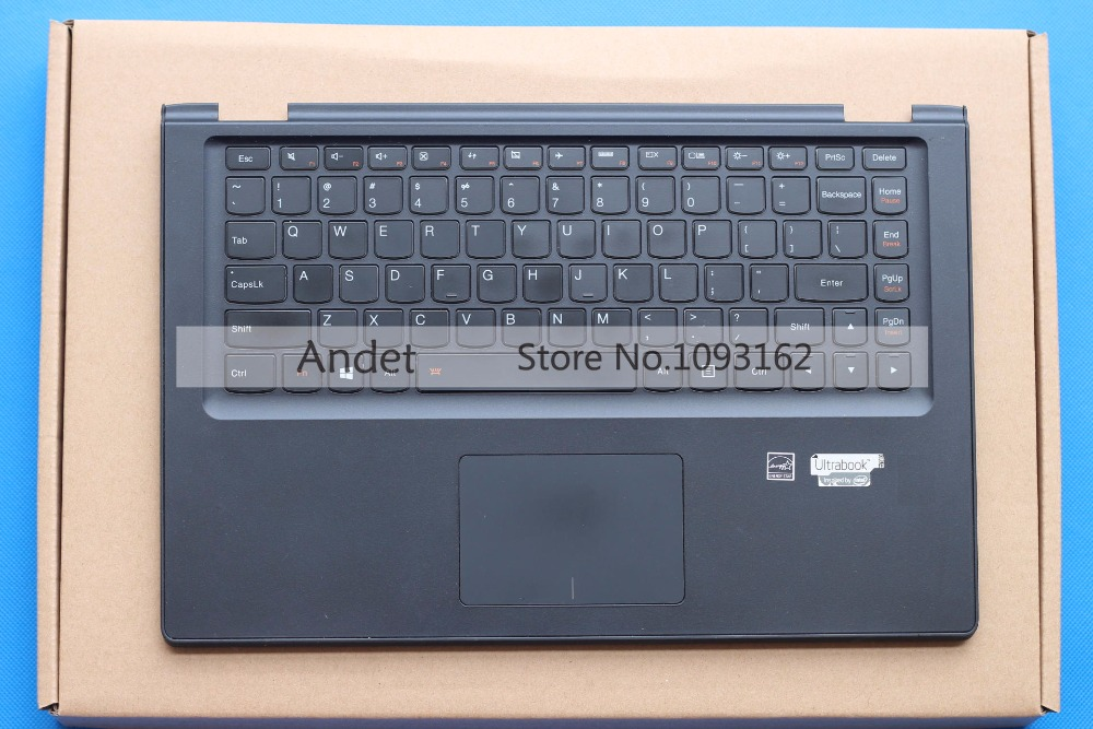 95New Original Lenovo Ideapad Yoga 2 13 Palmrest Cover Keyboard With Bezel Touchpad US Backlit original laptop keyboard for lenovo ideapad p500 z500 z500a z500g us layout with backlit fully tested