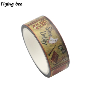 Image 5 - 20 ピース/ロット flyingbee 15mmX5m マジックアカデミー和紙テープ紙 diy 装飾粘着テープ文房具マスキングテープ用品 X0288