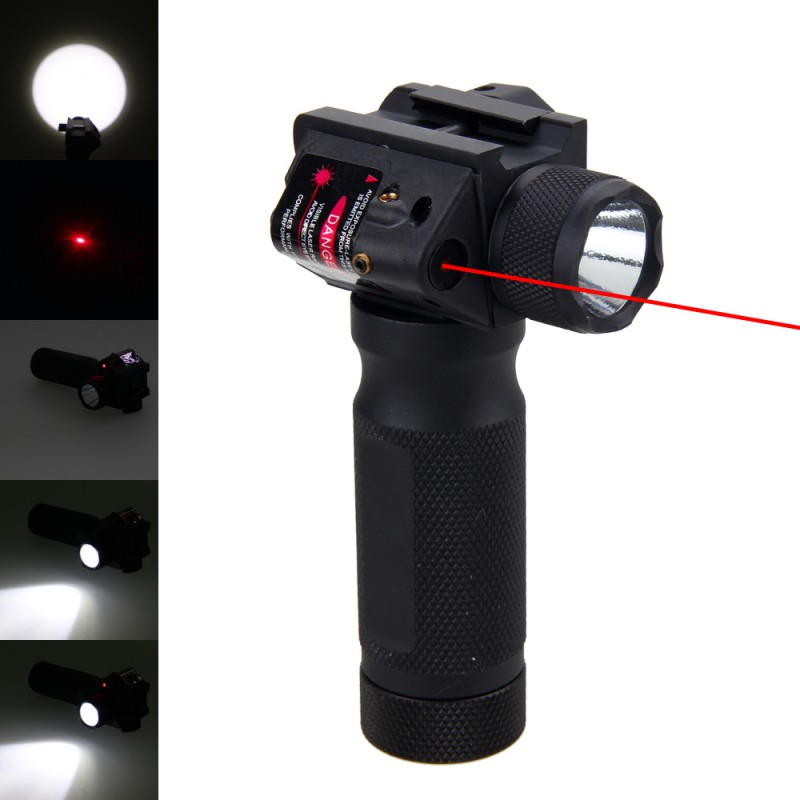 Red Laser Tactical Flashlight 1800 Lumen LED Bulb Torch Outdoor Military Hunting Shooting Camping Lantern