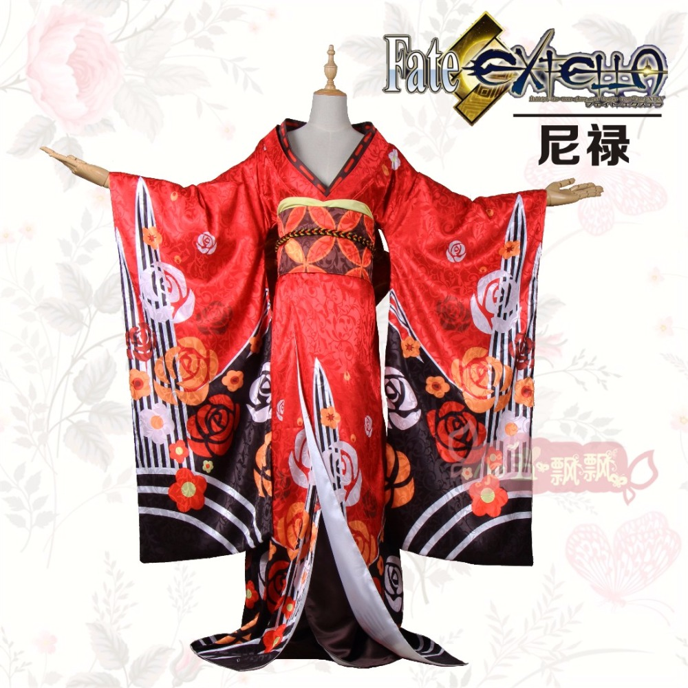 2017 Customize Anime Fate/Grand Order Nero Claudius Kimono Bathrobe Cosplay Costume For Women Halloween Free Shipping