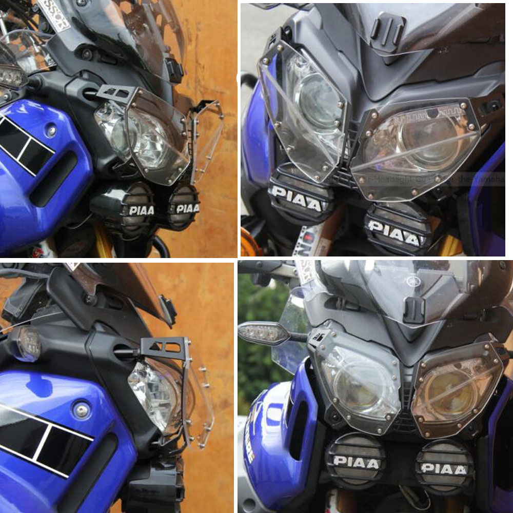 Akozon moto phare garde protecteur transparent convient pour XT1200Z Super Tenere 2010-2018