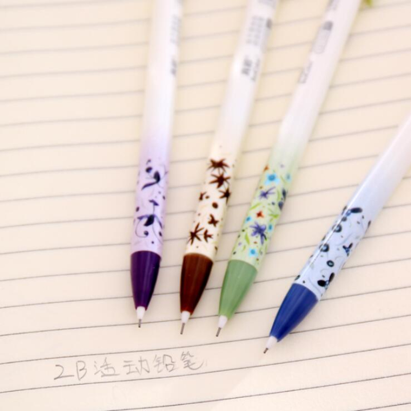 Pressable Pencil 0.5mm Mechanical Pencil Automatic Korean Japanese Flowers School Supplies Kids Gift Students Stationery