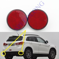 2 Pcs/Pair Rear bumper reflector rear fog lamp lights for Mitsubishi ASX 2016