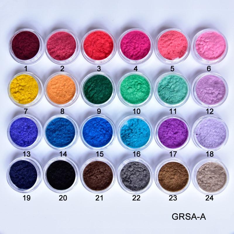 PLB11 Terciopelo Flocado Polvo de Uñas de Terciopelo 24 Colores / - Arte de uñas - foto 2