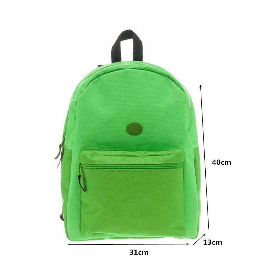 Lime Green Finn Hood Backpack School Bag With Hat Women S Bags Men S ... 2581dff2f