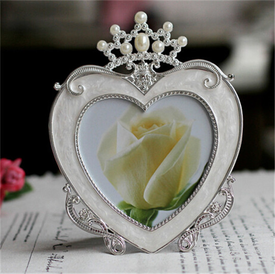 7inch Crystal Pearl Oval Wedding Photo Frame Metal Alloy: Popular Crown Frame-Buy Cheap Crown Frame Lots From China