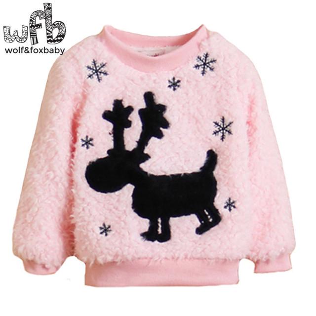 1-quatro anos de família combinando blusas de natal veados crianças Roupas das meninas dos meninos do bebê Roupas de inverno Infantil primavera da queda do outono