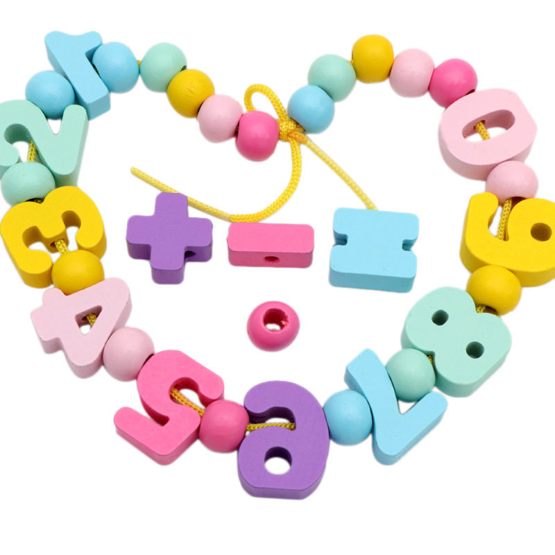 Learning Education Wooden Digital Beaded Toys Educational Toy For Children Birthday Gift