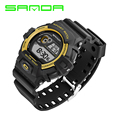 2016 New Sanda Homens Digital LED Relógios Desportivos G Moda Casual Militar relógios de Pulso Pulseira de Borracha relogio masculino Marca de Luxo
