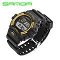 2016 New Sanda Men Digital LED Sports Watches Fashion G Casual Military Wristwatches Rubber Strap relogio masculino Luxury Brand
