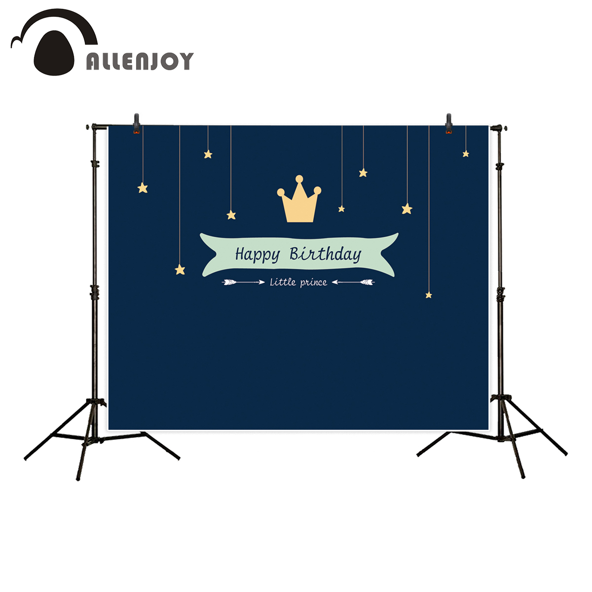 Allenjoy photography backdrop little prince theme birthday party crown stars background photocall photo studio photobooth
