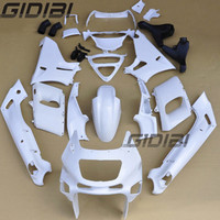 Motorcycle Unpainted White Fairings BodyWork Kit For KAWASAKI ZZR 400 ZZR 400 1993 2007 01 02 03 04 05 06 +4 Gift