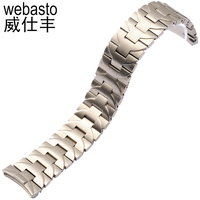 Webasto Fashion Watch Band For Panerai Silver Stainless Steel Straps Width 24mm Buckle Watch Strap Watchbands Free Shipping