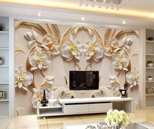 beibehang Custom Wallpaper 3D Butterfly Floral Backdrop 3D Sandstone Relief TV Background Wall Living Room Bedroom 3d wallpaper