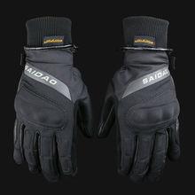 Бесплатная доставка мотоцикла кожаные Водонепроницаемый Ветрозащитные перчатки зимние теплые перчатки сенсорный экран