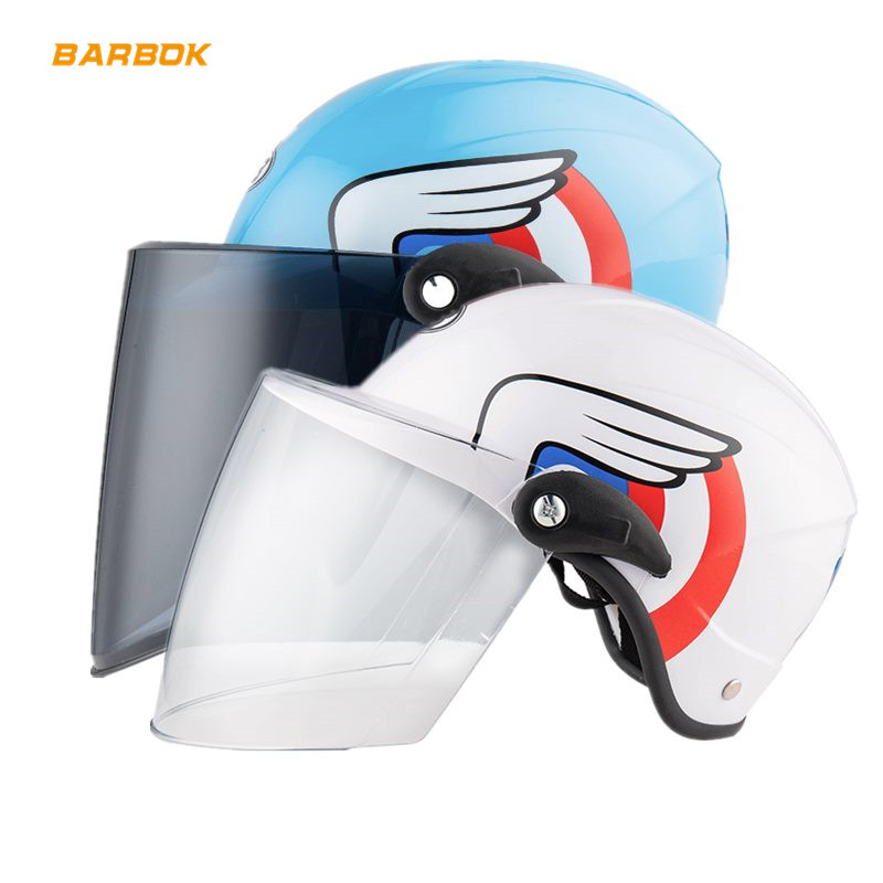 Motorcycle Safety Helmets for Child Transparent Windproof Sunscreen Scooter Snowboard Motorbike Bicycle Bike Caps Anti UV Visor in Helmets from Automobiles Motorcycles