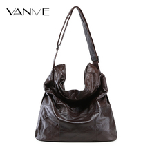2017 Fashion Women Genuine Leather Bag Casual HOBO Women Shoulder Bag Soft Large Bucket Shopping Bag First Skin Cowhide Bag Tote