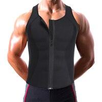 Zweet Taille Trainer Shapewear voor Mens Workout Vest Body Shaper Bodysuit Spandex Maillots Buik Afvallen Afslanken Corset