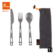Fire Maple Spoon Fork Knife Outdoor Camping Titanium Cutlery set Picnic Tableware Lightweight Cookware Kit 3 pcs FMT-P1