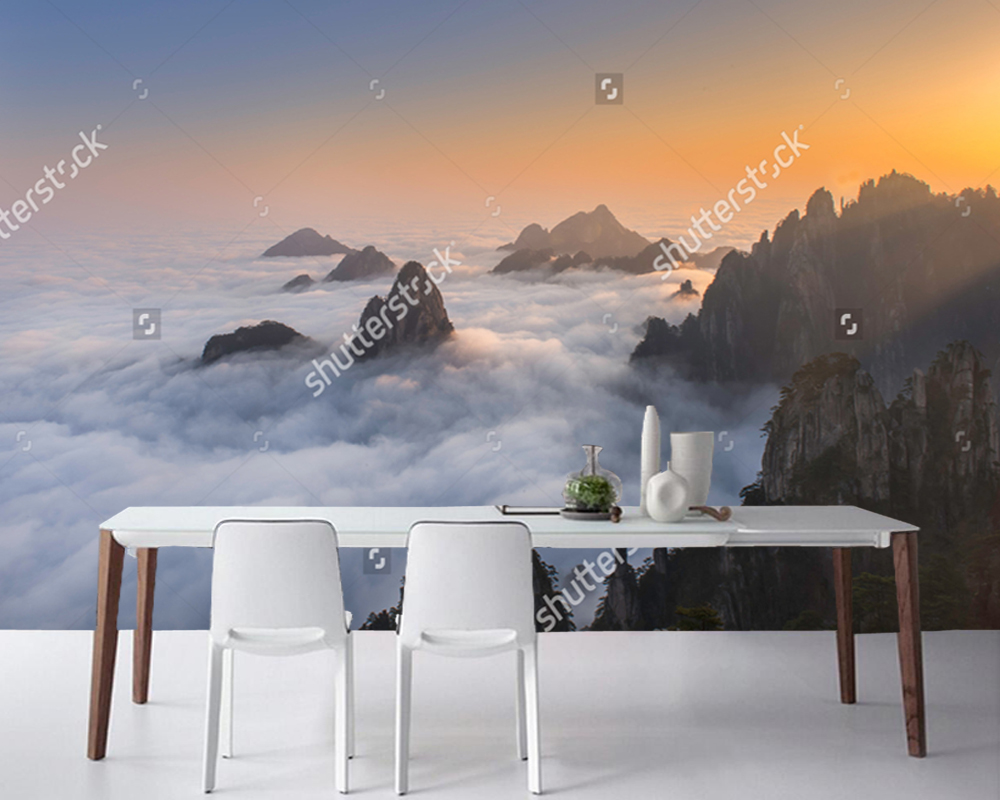 Download Wallpaper Mountain Room - Chinese-landscape-wallpaper-Huangshan-Yellow-Mountains-natural-photo-mural-for-living-room-bedroom-sofa-background-wall  HD_70210.jpg