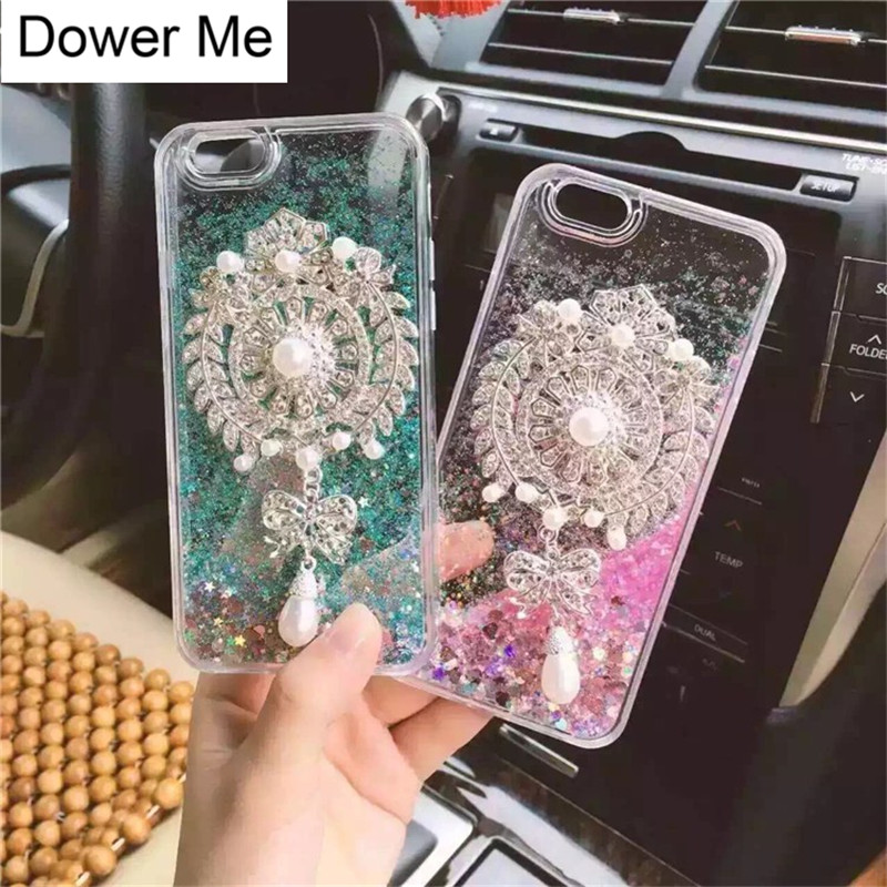 Phone Bags & Cases Dower Me Diamond Brooch Pearl Pendant Liquid Glitter Case For Iphone Xs Max Xr X 8 7 6 6s Plus Samsung Galaxy S9/8 Plus Note 9 8 Aromatic Character And Agreeable Taste Cellphones & Telecommunications