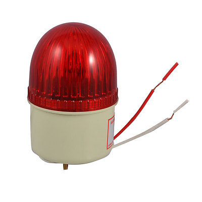 DC 24V 10W Red Industrial Signal Tower Buzzer Sound Alarm Warning Light lta 205j 2 dc12v 2 layer tower light signals bulb warning lamp alarm 90db red green u bottom