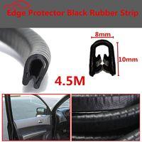 4 5 M Black Car Edge Protector U Shaped Rubber Auto Door Noise Insulation Anti Dust