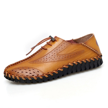 Big Size Men leather Casual shoes Summer Soft Man 47 Handmade Leather Shoes