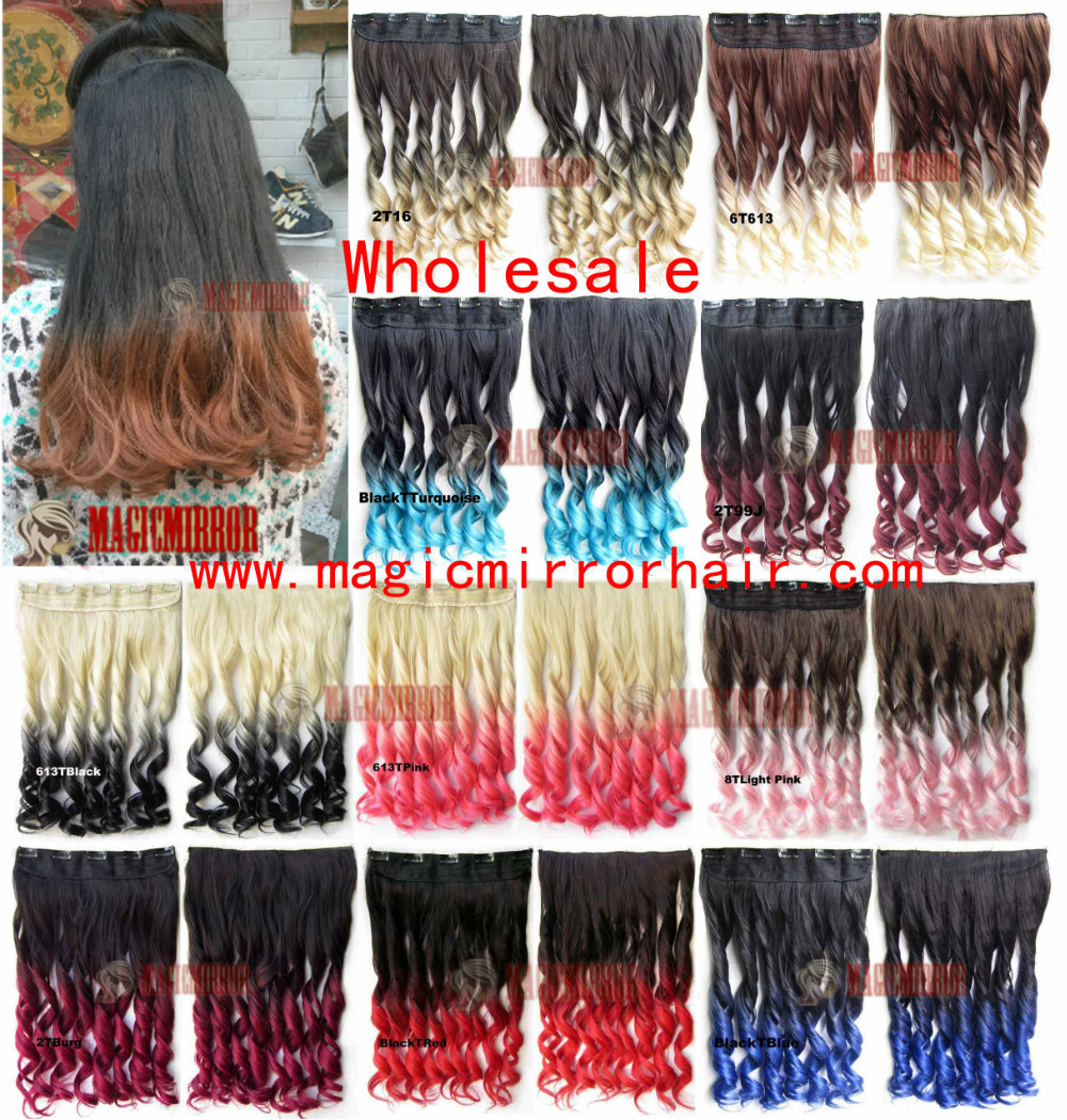 10PCS/Lot 24\'\' Wholesale Dip dye ombre synthetic fibre hair ...