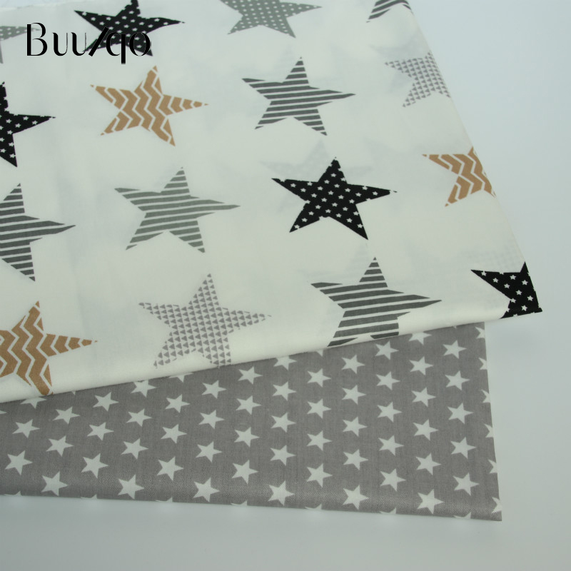 Buulqo New Stars Prints Cotton Twill Fabric By Meter For Diy Sewing