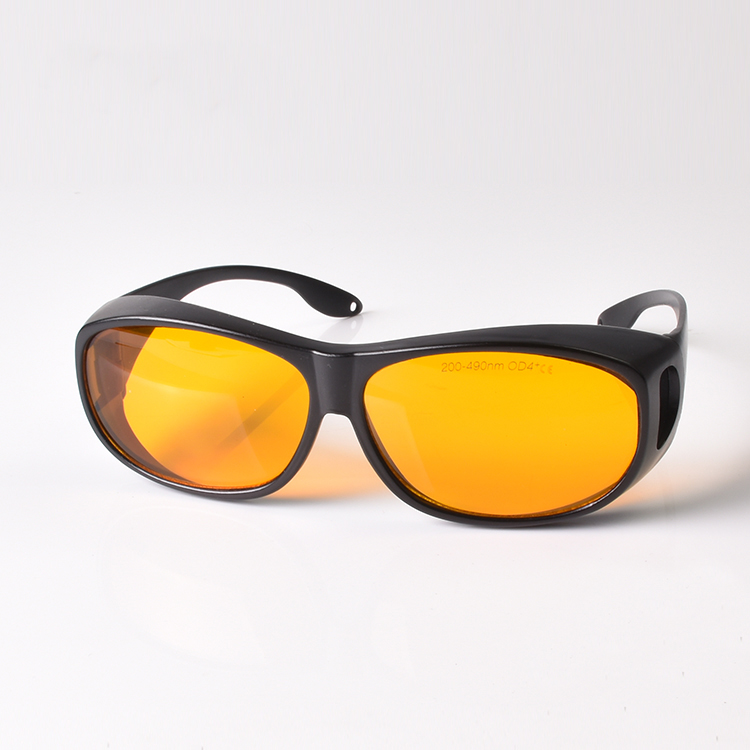 O D 6 4 laser safety glasses for violet and blue lasers with CE266 405 450 473nm lasers in Safety Goggles from Security Protection
