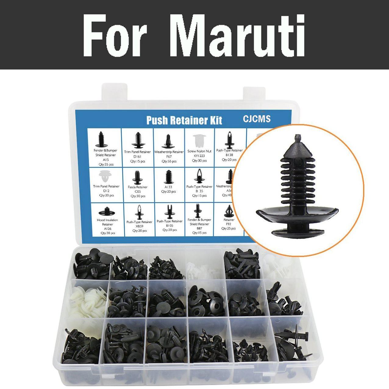 Car Push Pin Retainer Clip Fastener Tool Kit 415pcs Storage Retainer Rivet Clips For Maruti 800 Alto Baleno Esteem Gypsy Zen