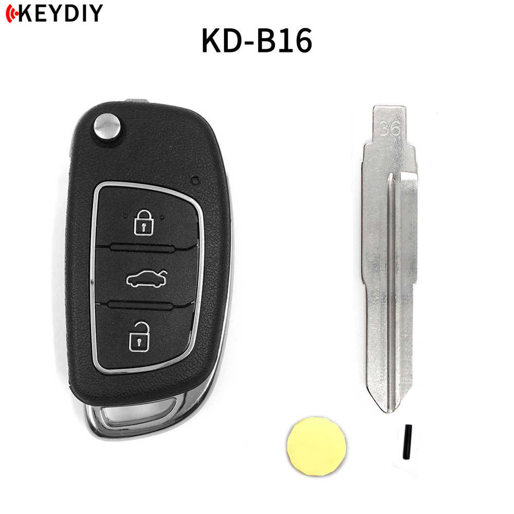KEYDIY KD B16 Car Key For Hyundai KD900/KD-X2/KD MINI Key Programmer B Series Remote Control with 33#/36#/50#/77# Blade