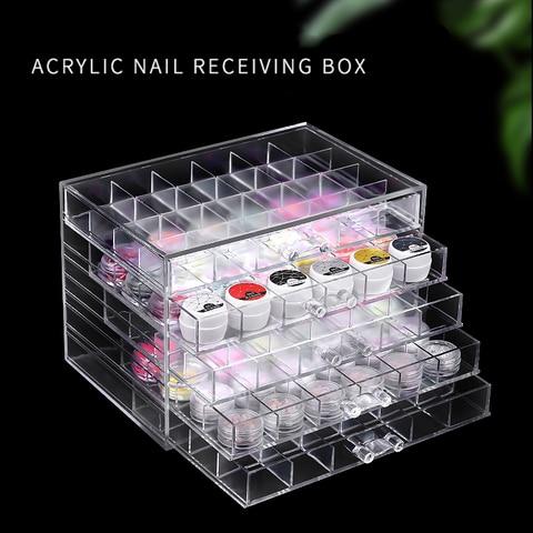 5 camada de acrilico transparente maquiagem gavetas de armazenamento caixas de armazenamento de decoracao de