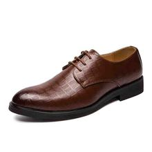 MIUBU Luxury Brand Genuine Leather Fashion Men Business Dress Loafers Pointy Black Shoes Oxford Breathable Wedding Shoes цена