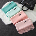 Shawls And Scarves Cashmere Cape Plain Winter Warm Scarf Luxury Brand Pashmina Soft Female Tassel Women
