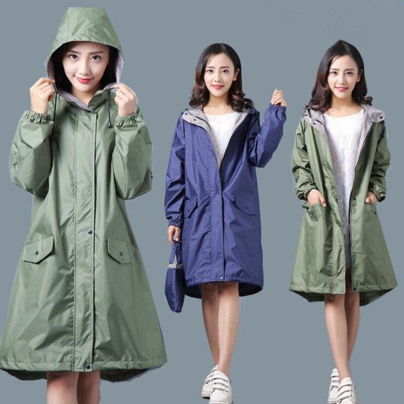 Longue mince respirant imperméable femmes/femmes ponchos combinaison étanche pull femme manteau de pluie chubasquero mujer