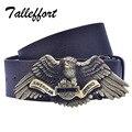 Tallefffort высокое качество фантастический орел пряжка PU кожаный пояс дизайнерский бренд пояс для человека
