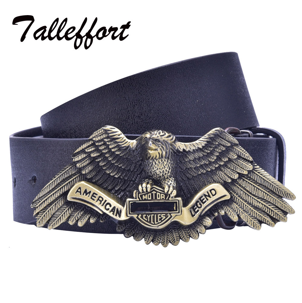 Tallefffort high quality fantastic eagle buckle pu leather for High couture brands