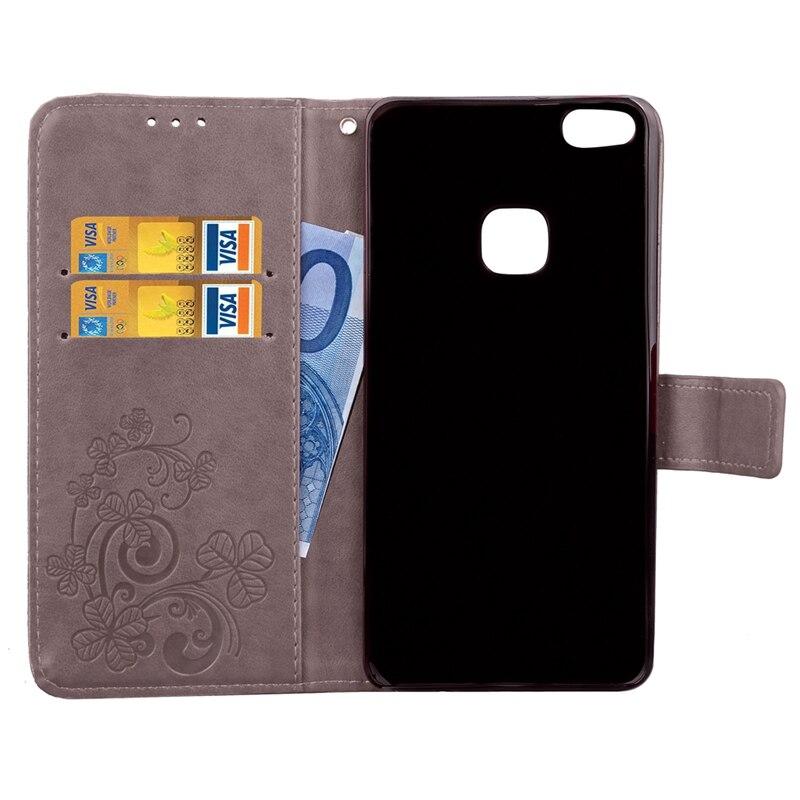 Huawei P10 Lite Flip Cüzdan üçün PU Dəri - Cib telefonu aksesuarları və hissələri - Fotoqrafiya 4