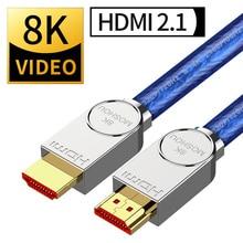 HDMI Cables 2.1 8K 120Hz HDR 48Gbps HIFI ARC 12 Bit 7680*4320 px with Audio & Ethernet 1M 2M 3M 4M 5M 4:4:4 MOSHOU amplifier