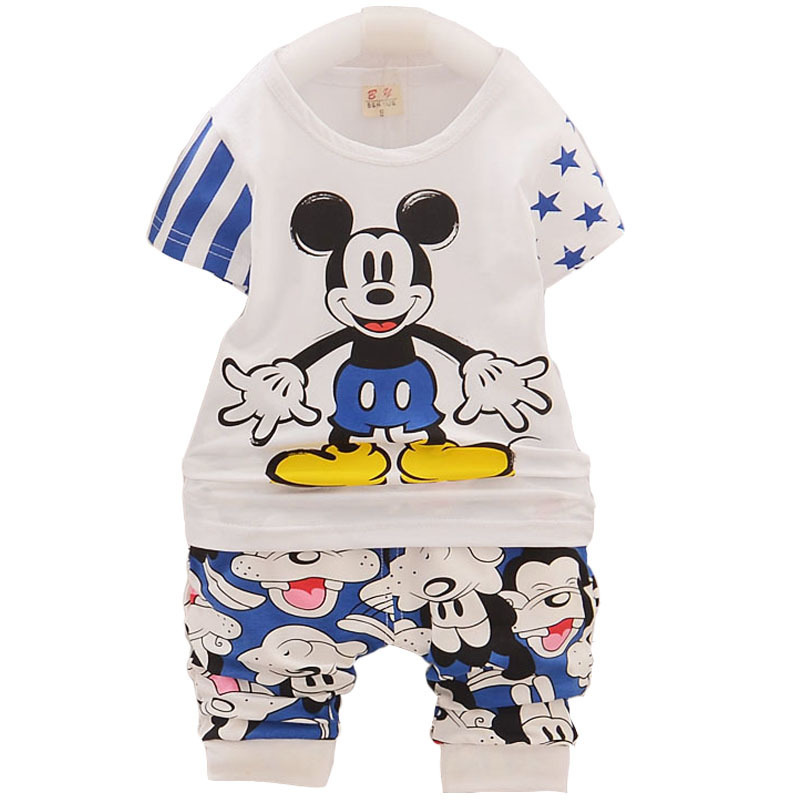 Brand Children Boy Girls Clothing Sets Baby Summer Cotton Clothes Cartoon Kids Catoon T-Shirt Shorts 2pcs/sets Infant Tracksuits