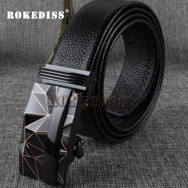 Correas del Mens De Lujo de Alta Calidad de La Manera Marca Ceinture Homme Diseñador Cuero Genuino Automática Hebilla de Cinturón de Hombres de Negocios E014