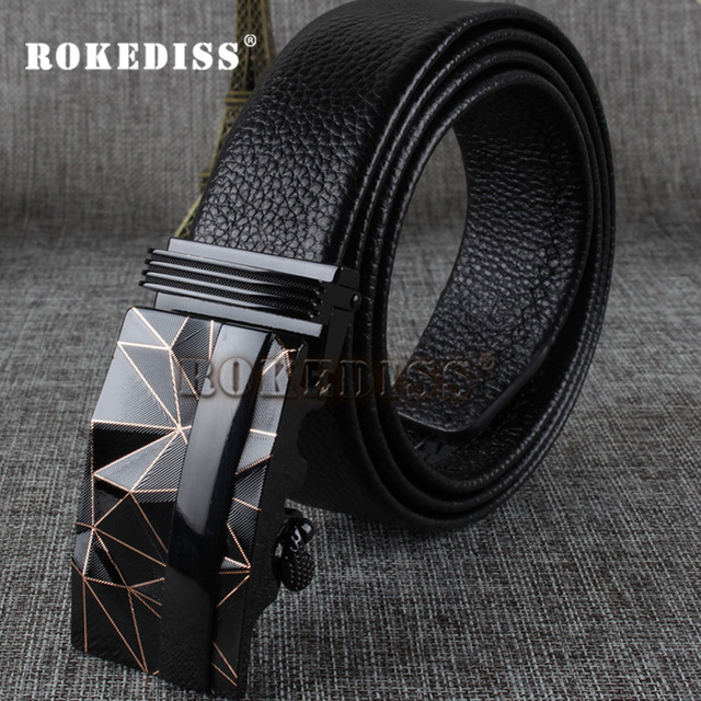 Mens Belts Luxury High Quality Fashion Brand Ceinture Homme Designer Business Genuine Leather Automatic Buckle Belt Men E014
