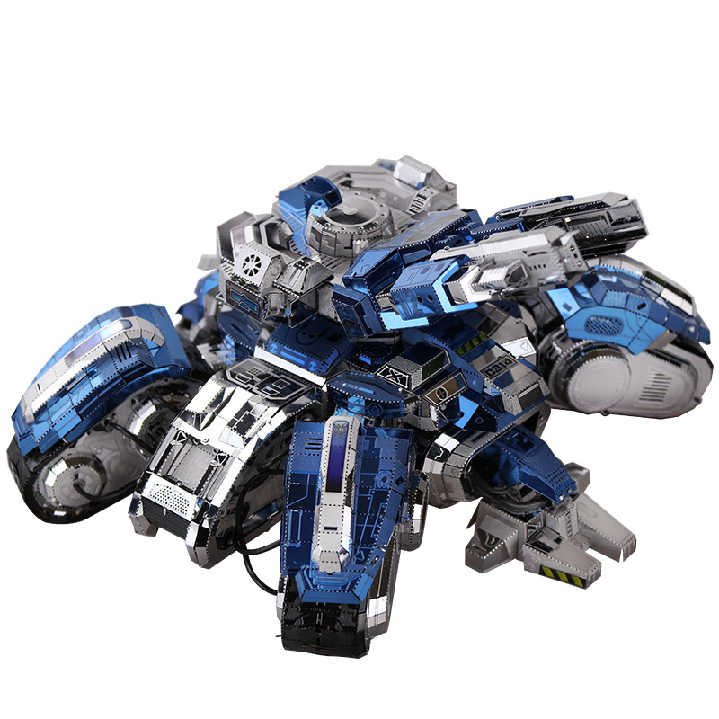 MU Star Craft 2 Siege Edition Tank DIY 3D Metal Puzzle Assemble Model Building Kits Jigsaw Toys YM N025 D