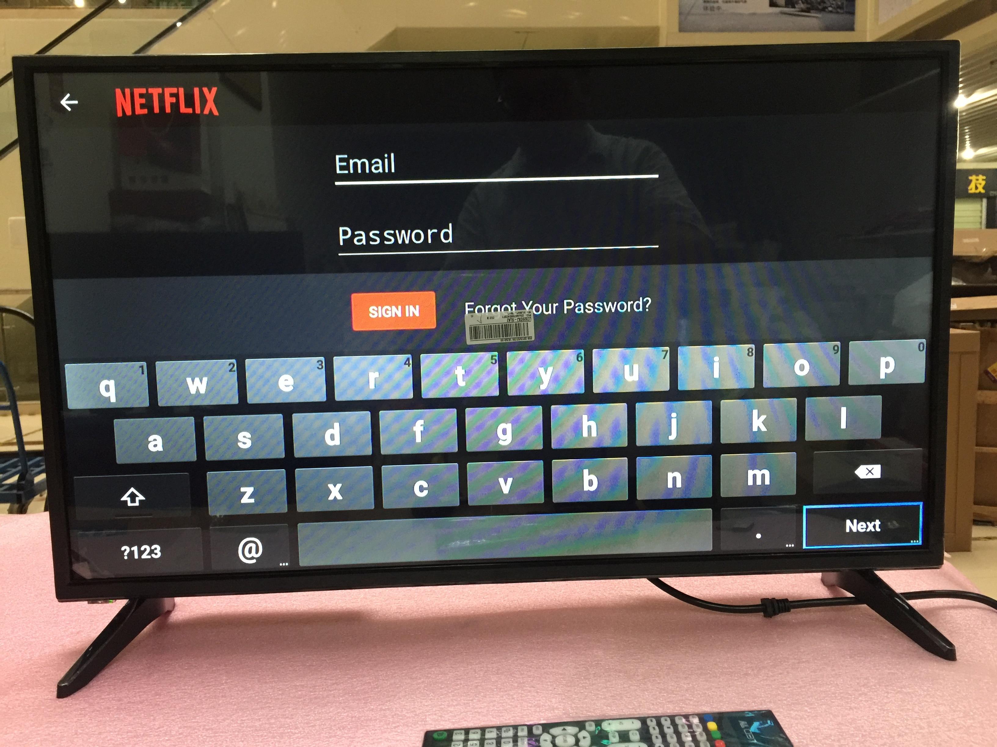 32 дюйма с разрешением FULL HD монитор 1920*1080p+ Wifi Смарт Android 7.1.1 оперативная память 1 ГБ Встроенная память 4 Гб интернет светодиодный телевидения ТВ